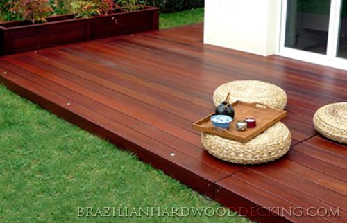 Massaranduba Hardwood Decking Image Gallery